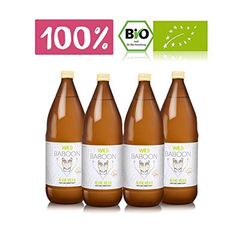 Premium Aloe Vera 100{774c150d415d4a7b897e49f511f43e439fc4773a557e8a76c75bb53f183325ab} Bio Direktsaft, 1200mg Aloverose, 4 Liter Trinkgel, DE-ÖKO-006 (4)