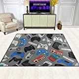 Geniff Video Games Area Rug Exquisite Thickening Heavy Polyester Non-Slip Floor Mat Doormats for Kids,Boys,Girls or Video Game Lovers 62 X 47 Inch