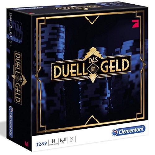 Gesellschaftsspiel - Das Duell um die Geld - Mischung Quiz und Poker - 200 Karten, 144 Chips - ab 12 Jahren - Kartenspiel - Brettspiel - Geld Spiele - Erwachsene - Spiel - Quizspiel Spiel Brettspiele