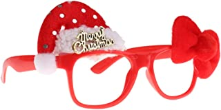 Fenteer Funny Christmas Glasses Frames Evening Party Toy Party Props Christmas Hat