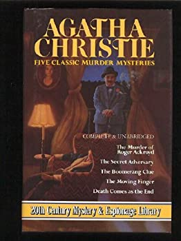 Hardcover Five Classic Murder Mysteries: (The Murder of Roger Ackroyd / The Secret Adversary / The Boomerange Clue / The Moving Finger / Death Comes as the End) Book