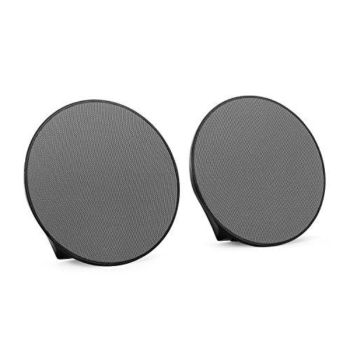 OneConcept - Dynasphere, Bluetooth-Lautsprecher, mobiler Außenlautsprecher, Boxen-Paar, drahtlose Musikwiedergabe, Status LEDs, Ultraleicht, grau