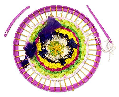 Betzold 4104 - Webrahmen für Kinder Durchmesser 21 cm - Rundwebrahmen Grund-Schule Schulwebrahmen