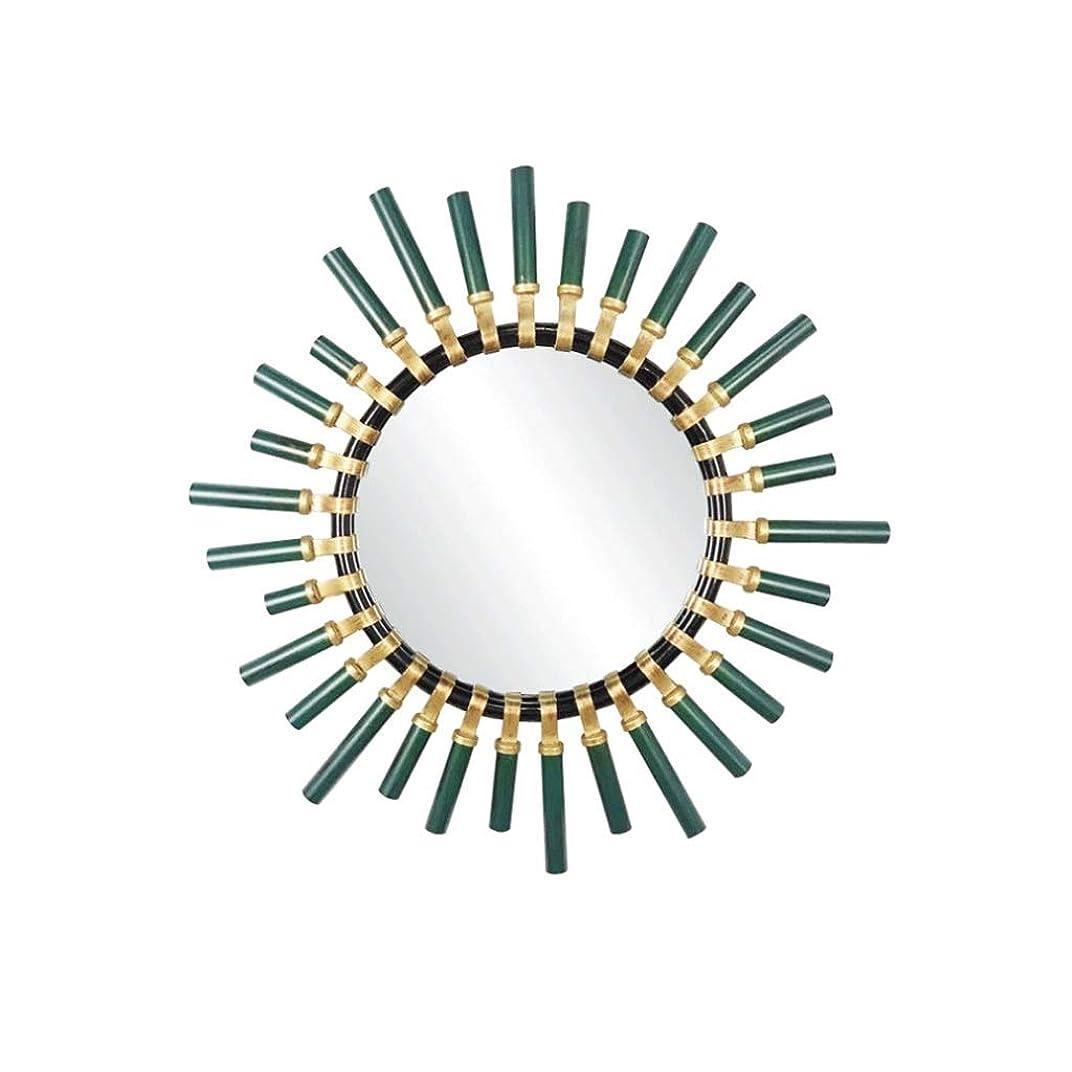 代表するおじいちゃんまろやかな鉄のアートラウンドミラー三次元フレーム近代バーレストラン化粧鏡の直径60センチメートル JZ10/19