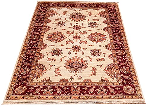 Ziegler Orientteppich aus Schurwolle, 173 cm x 125 cm = 2,16 qm, handgeknüpft