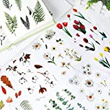Fotoalbum Sticker,24 Blatt Vintage Aufkleber, Verschiedene Flowers Sticker, Aufkleber Fotoalbum für Scrapbook oder Bullet Journal