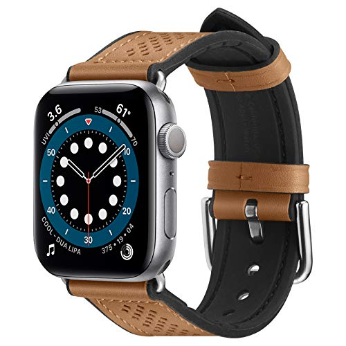 Spigen Retro Fit Pulseira compatível com Apple Watch banda 38mm/40mm Série 6/SE/5/4/3/2/1 - Castanho