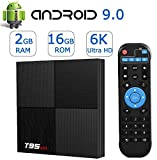 Android TV Box Android 9.0,Smart TV Boxes 2GB Ram 16GB ROM H6 Quad-Core 6K Ultra...