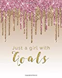 Just a Girl with Goals: Girl Boss 12 Month Planner Jan - Dec 2021 Budget Planning Goals Setting Vision Board Circle Habit Tracker Checklists Motivational Quote Space Monthly Calendar Diary