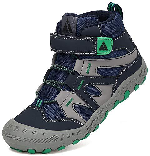 Mishansha Zapatillas de Montaña Niños Antideslizante Transpirable Zapatos de Trekking Niño Niña Calzado Senderismo Azul Marino Gr.25