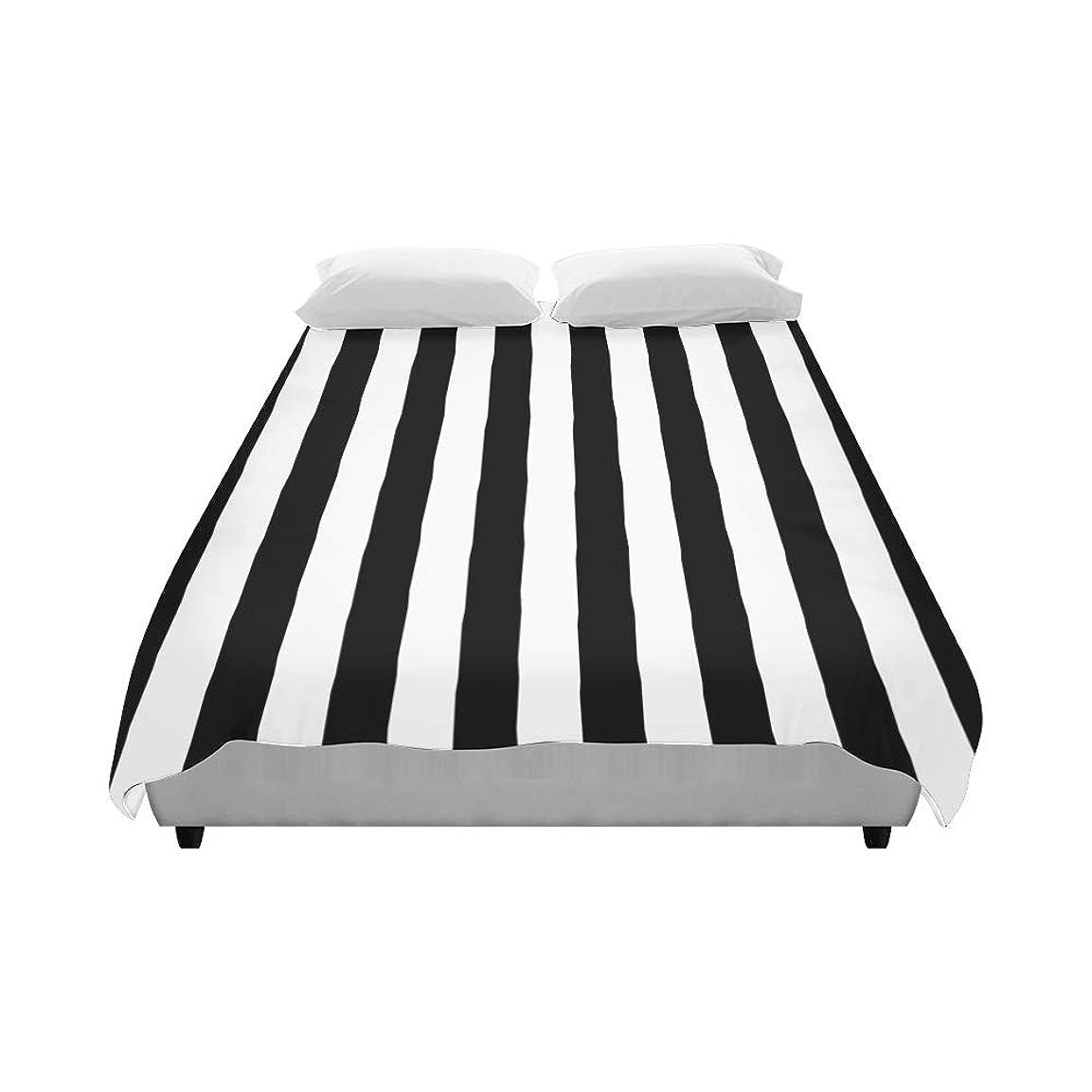 興奮するテセウスその他JLDG 掛け布団カバー 黒と白の幾何学的なストライプ 寝具カバー 抗菌 高級 ベッド用 防ダニ 四節適用 ソフト 柔らかい 暖かい 優れた通気性 おしゃれ 寝室 ダブル 子供 218*175cm