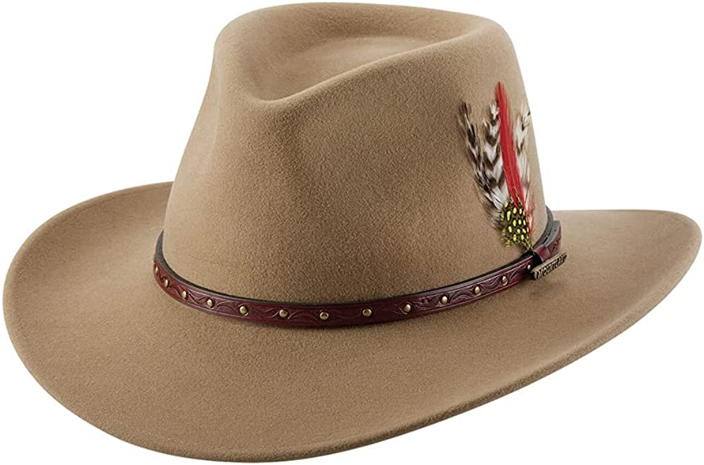 Bullhide Premium Wool and Cashmere Felt Summit Cowboy Hat with Feathers