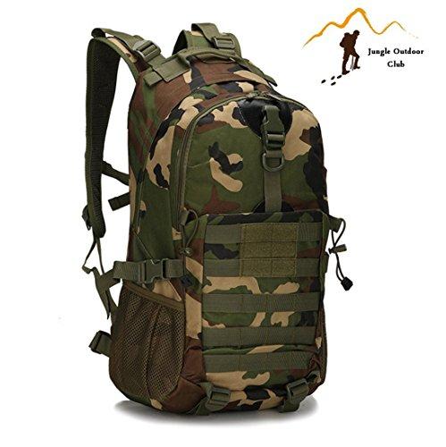 Jungle 35L mise à niveau 511 Sac à dos Molle randonnée Camping d'escalade en plein air Sac à dos de loisir Sac Camouflage épaules d'escalade poches Sac de voyage, Jungle Camouflage