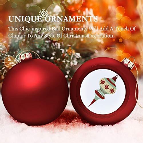 None-brands 3' Christmas Ornament Balls, Christmas Baubles, Vintage Mid Century Christmans Ornament-up, Christmas Tree Decorations Baubles, Ornaments for Christmas Birthday Wedding Decor