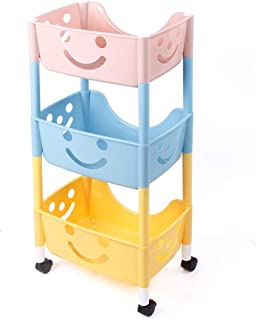 LUKEEXIN Bathroom Storage Rack Child Storage Cabinet Rack Removable Easy to Disassemble (Color : Photo Color)