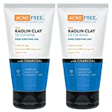 AcneFree Acne Free Kaolin Clay Detox Mask, 5 Ounce (Pack of 2)