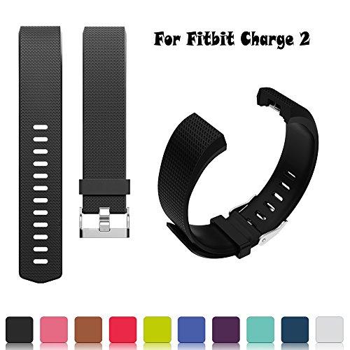 Fitbit Charge 2 Ersatz Armband - iFeeker Ersatz Weich Silikon Einstellbare Ersatz Sport Armband Gurt Smart Uhrenarmband für Fitbit Charge 2 Armband Zur Herzfrequenz Und Fitnessaufzeichnung