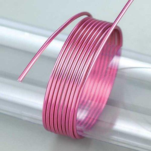 Efco 5 m x 2 mm Environ 42 g en Aluminium anodisé Rose Vif