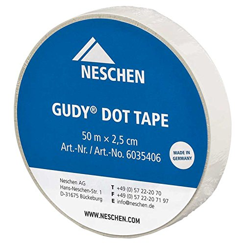 Neschen Gudy dot tape permanent klebend, transparent, trägerlose easy dot-Technologie, doppelseitige Klebefolie