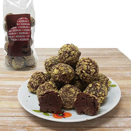 Morra Cioccolati KEBUN cioccolatini fondenti ripieno di crema alla nocciola avvolto in una granella di cereali, SENZA LATTOSIO Prodotto Italiano Artigianale (1 conf.)