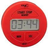 TFA Dostmann Digitaler Timer und Stoppuhr, Kunststoff, rot, (L) 55 x (B) 17 x (H) 55 mm
