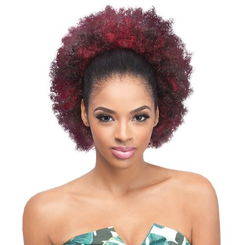 Outre Synthetic Drawstring Ponytail Timeless Afro Large (1B)