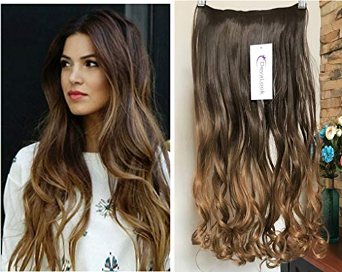 20 Inches Wavy Clip in Ombre Hair Extensions with 2 Tones