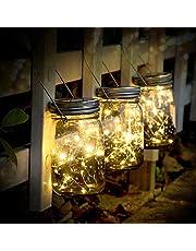 SUNNOW Luz Solar Jardín - Juego de 3 Lámparas Solares, 30 Luces LED de Hadas, Luces De Jardin Solares, Impermeable Interiores/Exteriores Decoración Lámpara Para Navidad Navidad