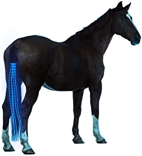 Flytianmy 100CM Horse Tail USB Lights Chargeable LED Horse Harness Equestrian Outdoor Sports The Lights Horse Tail