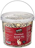 Premium Rabbit Mix. Complementary feed for rabbits. Finest ingredients. Analysis: Crude Protein 13%, Crude Fibres 8%, Crude Oil & fats 3%, Crude Ash 7.5%, Calcium 5g, Phosphorous 4g