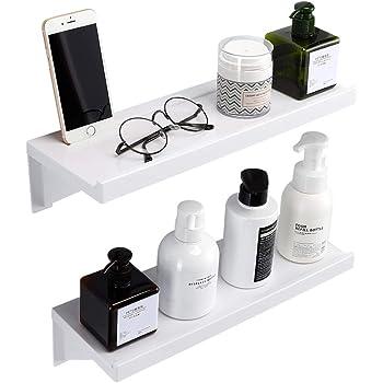 SUNSEALIVING 洗面所ラック ホルダー 壁掛け式 セット 使用便利 取り付け簡単 穴開け不要 取り外し可能 洗える 物置台(2個)