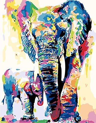 djjinhao- 1000 Pezzi Puzzle - Elefante di Colore ed elefantino - Puzzle per Bambini Adulti Gioco Creativo Puzzle Regalo Decorazione della casa di Natale