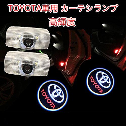 NMXPW 2個セットドア高輝度のLEDチップ トヨタロゴ カーテシランプ カーテシライト ゴーストシャドーライト for Toyota
