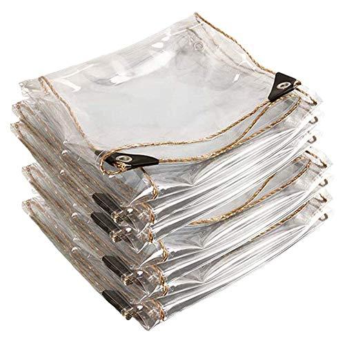 XBSXP Lona Transparente, Lonas Resistentes, Cubierta de Planta de Patio antienvejecimiento Resistente al Desgaste de plástico Blando de PVC, 42 tamaños (Color: Clear-0.4mm, Size: 3x3m)