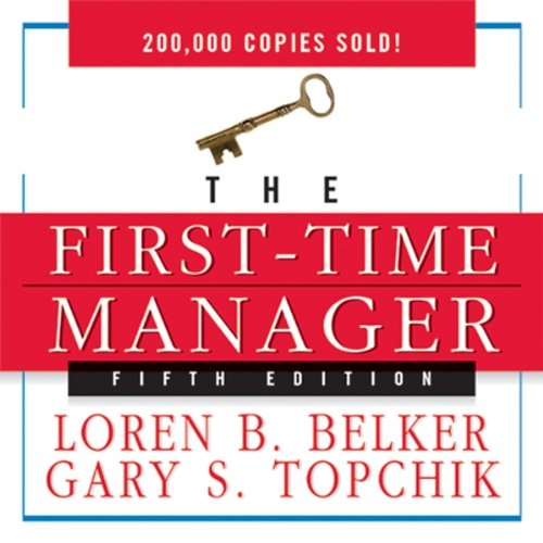 The First-Time Manager audiobook cover art