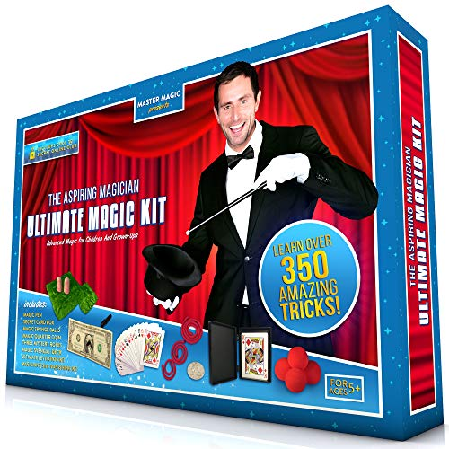 MasterMagic Ultimate Magic Kit - Advanced Magic Tricks for Children and Grow-Ups - Learn Over 350 Spectacular Tricks with This Magic Set - Ideal for Kids of All Ages and Grown-Ups!