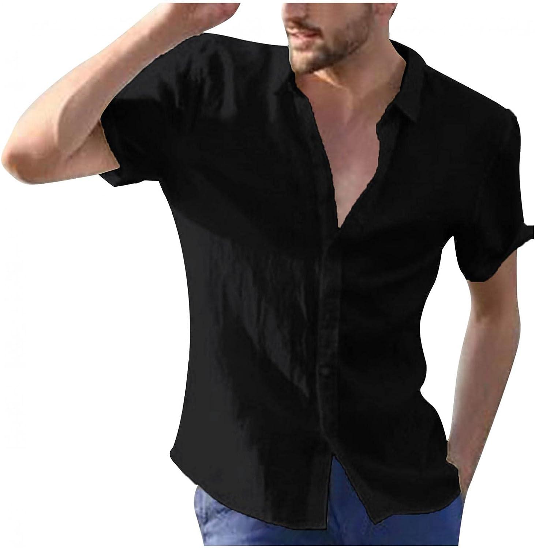 Kcocoo Hawaiian Shirt for Men Short Sleeve Beach Printed Summer Button Down Shirt Casual Breathable Lightweight Tops Blouses