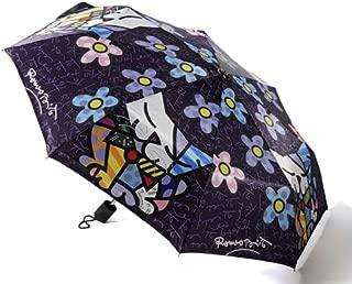 Romero Britto Cat with Flowers Art Umbrella
