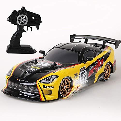 ZAKRLYB Escala 1:16 RC Drift Racing Deportes Auto en adultos de 2,4 GHz de control remoto de coches de juguete 4WD de alta velocidad fuera de la carretera de carreras de coches eléctricos del truco de