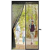 zanzariera porta finestra zanzariera magnetica tenda scorrevole con bordo decorativo zanzariere per portes chiusura automatica facile da montare autoadesiva 100 x 230 cm nero