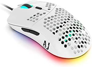 NACODEX AJ390 69G USB Wired Gaming Mouse with Lightweight Honeycomb Shell - RGB Chroma LED Light - Programmable 7 Buttons ...