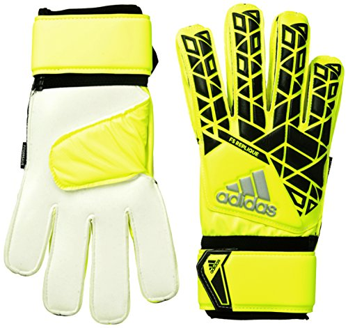 adidas Torwarthandschuhe ACE Fingersave, solar yellow/Black/Onix, 11.5