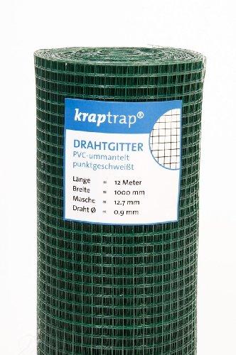 kraptrap® Volierendraht grün Drahtgitter I Käfigdraht Schweißgitter (1m x 12m)