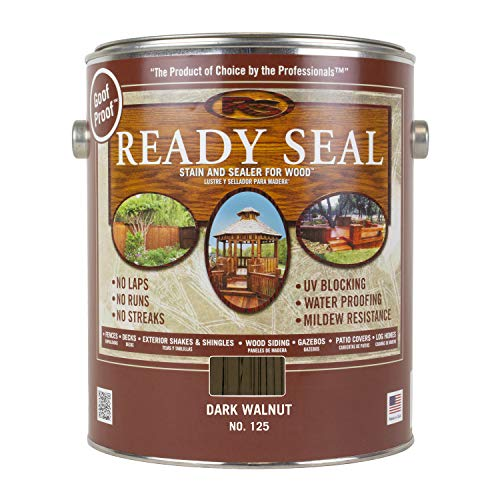 Ready Seal 125 Can Exterior Wood Stain and Sealer, Dark Walnut, 1-Gallon