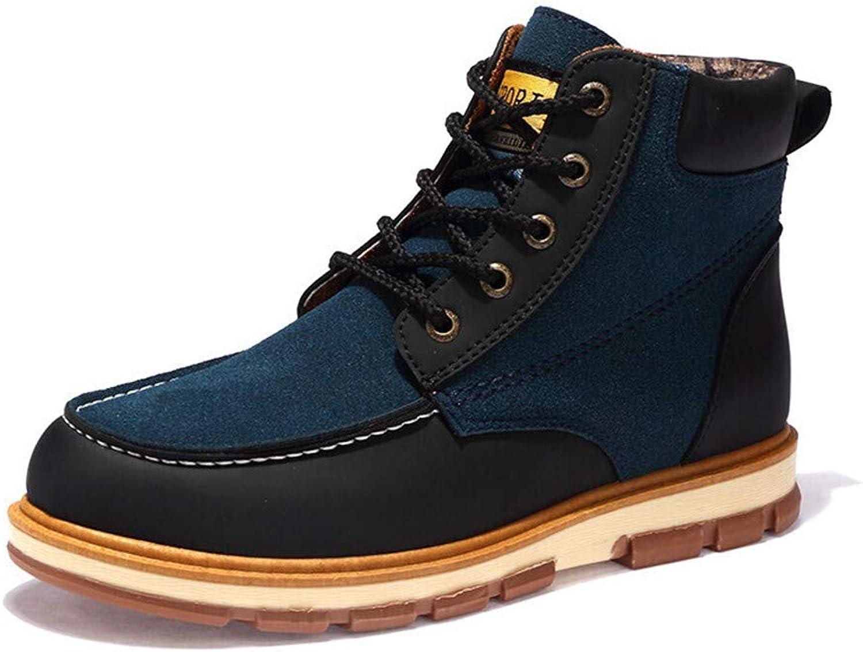 DINGJIE Snow Boots Men, Winter Outdoor Warm Non-slip High-top Flat Cotton shoes