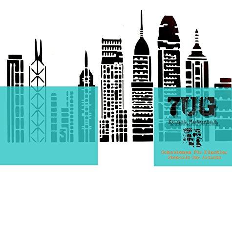 7UG Designer Schablone Wolkenkratzer, Hochhäuser, Skyline/City-Serie Nr.1