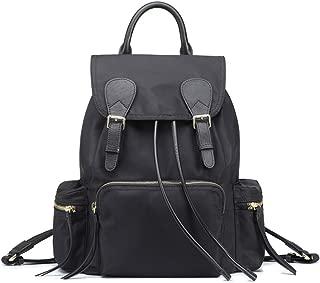 赵凯 School Bag Large-Capacity Simple and Versatile Lightweight Oxford Cloth Ladies Backpack, Shoulder Bag Traveling Backpack (Color : Black, Size : Large)