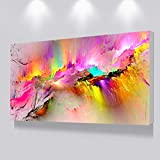 AYHBV Impresionesmurales deLienzo dePintura al óleo Impresaspara la Sala de Estar Pared sin Marco Cuadros Decorativos Modernos Pintura de Arte Abstracto