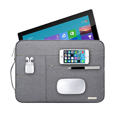 Audirex Water Drop Proof Laptop Tablet Sleeve Handbag for 12 - 13.3 Inch MacBook Air | MacBook Pro Retina 2012 - 2019 | 12.9 Inch iPad Pro | Surface Pro 6 5 4 | New Surface Pro (Grey)