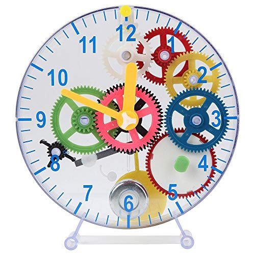 Lily's Home Do-It-Yourself Children's First Puzzle Clock Kit, No Batteries Required, Learn How Clock Gears Work, Colorful and Educational Gift for Kids, Multi-Colored (31 Pieces)